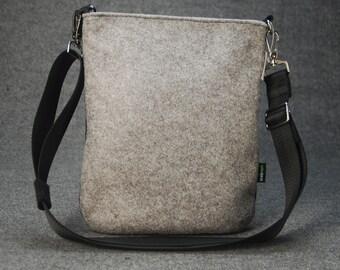 Felt Messenger Bag Cross Body Bag Casual Bag Everyday Bag Shoulder Bag iPad Bag E705