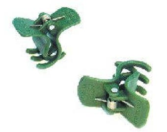 Cymbidium, Orchid & Vine Clips, Large. 24 Pack. Green.