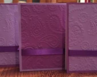 Regal Purple Greeting Cards - Set of 4