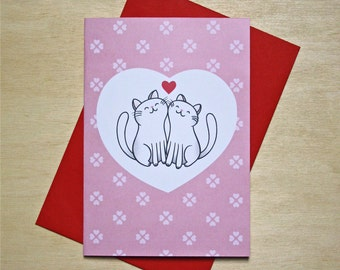 Card Cats in Love