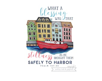 Notecard or Print ~ Harbor Houses