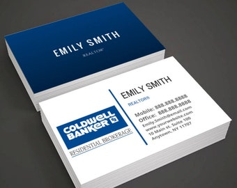 Coldwell banker etsy coldwell banker business cards for realtor real estate agent reheart Choice Image