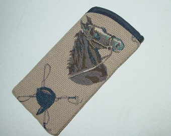 Horse and Hound,Dog   Eyeglasses Case/Sunglasses Cases,Equestrian Glasses Case