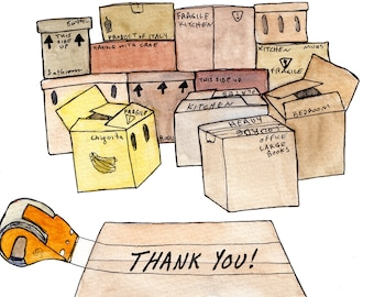 Special price - Thank you card - Moving Day