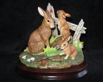 Vintage Rabbit Family by Andrea 6648 Bunnies