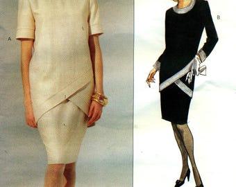 Vogue 1154 ALBERT NIPON American Designer Contrast Band Dress Size 12 - 14 - 16