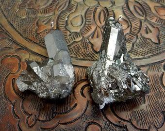 Titanium Crystal Clusters Mystic Black Diamond Crystal Quartz Point Cluster - You CHoose (RK86B11-16)