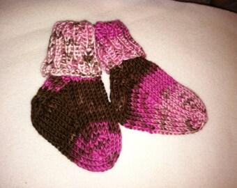 Chocolate & Raspberry Mismatched Socks