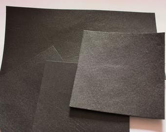 40x40cm Black Vegetable Tanned Leather Tooling Cowhide 2.5mm thick