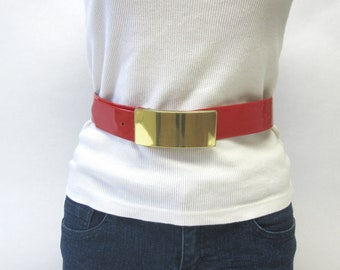 Shiny Red Belt Glossy