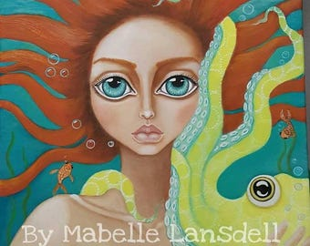 Mermaid Large Print of Original Painting