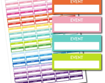 Event stickers, Event planner stickers, Printable event stickers, Event box stickers, Event Header stickers, Life planner stickers, STI-205