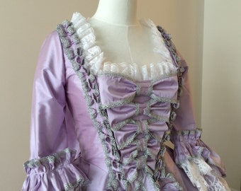 Custom Marie Antoinette Rococo Gown with Bow Stomacher