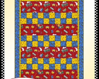 Downloadable Checkmate Quilt Pattern Easy 3 Yard Design