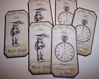 Steampunk Apothecary Labels Set of 12