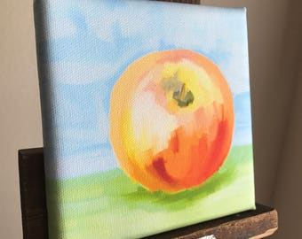 """Canvas reproduction giclee PRINT from my digital painting, """"Apple in Still Life"""""""
