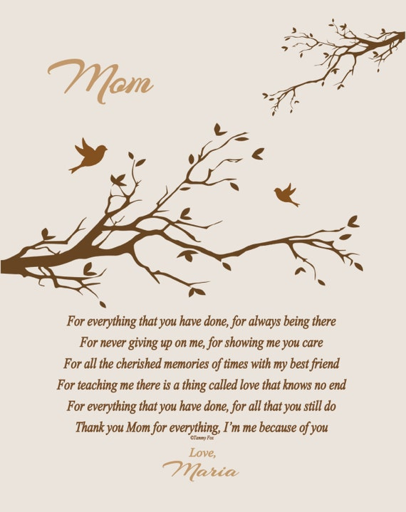 Christmas gift for mom mothers day birthday christmas thank you christmas gift for mom mothers day birthday christmas thank you just because personalized poetry print choice of color choice of poem from altavistaventures Images