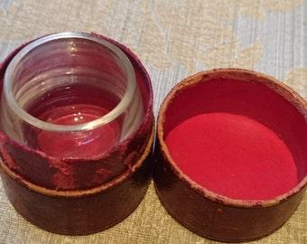 Vintage  Medicine Travel Glass And Case