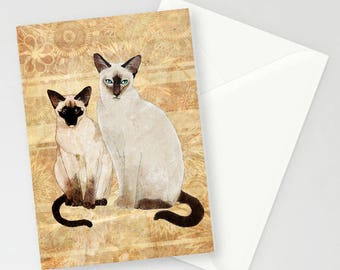 Siamese Cat A6 Greetings Card