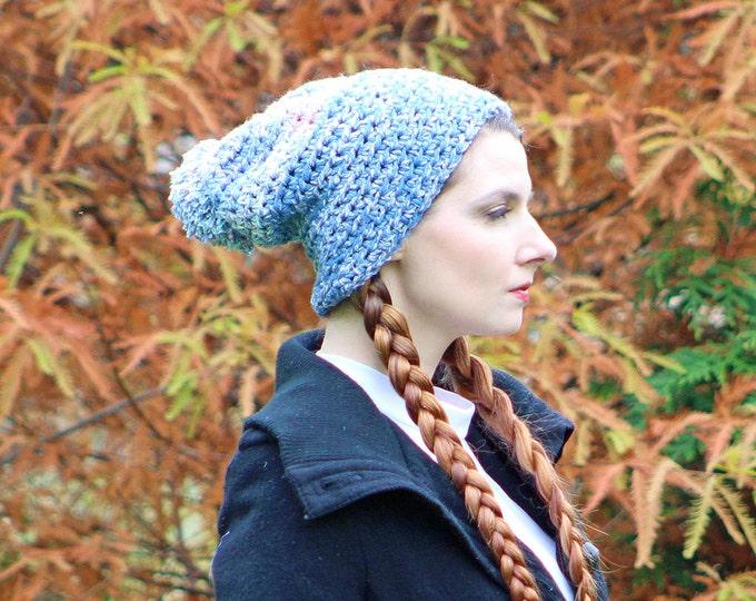 Baby Blue Pom Pom Beani Skullcap Warm Winter Hat Ready to Ship Gift