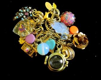 Vintage Charm Bracelet - Lockets