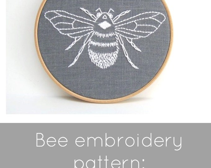 Bee Embroidery Pattern - Digital Download