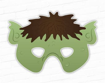 Printable Mask, Halloween Mask, Troll Mask, Monster Mask, Fairy Tale, Photo Booth Props, Printable, Ogre Mask, Paper Mask, Costume For Kids