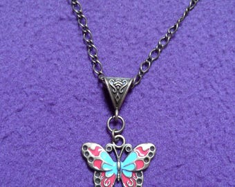 Necklace «shimmering butterfly.