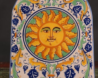 Italian Sun Tile / Plaque, Signed LaGiara