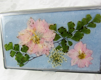 Compact, Real Flowers, Mirrors Compact, Natural flowers in Resin  (1564)