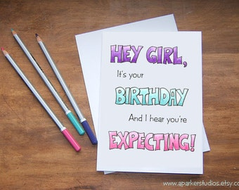 Funny birthday cards best friends illustrated by aParkerStudios
