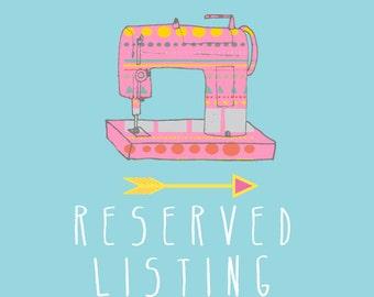 RESERVED listing especially for Madisson Van Berkel