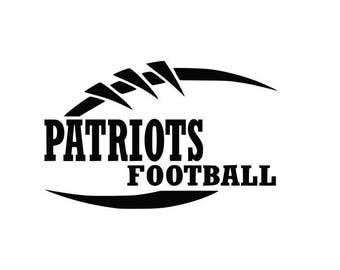 Patriots Football high school college SVG File Cutting, DXF, EPS design, cutting files for Silhouette Studio and Cricut Design space Sport