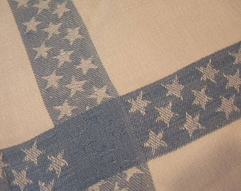 Vintage Blue and White Star Hand Towel