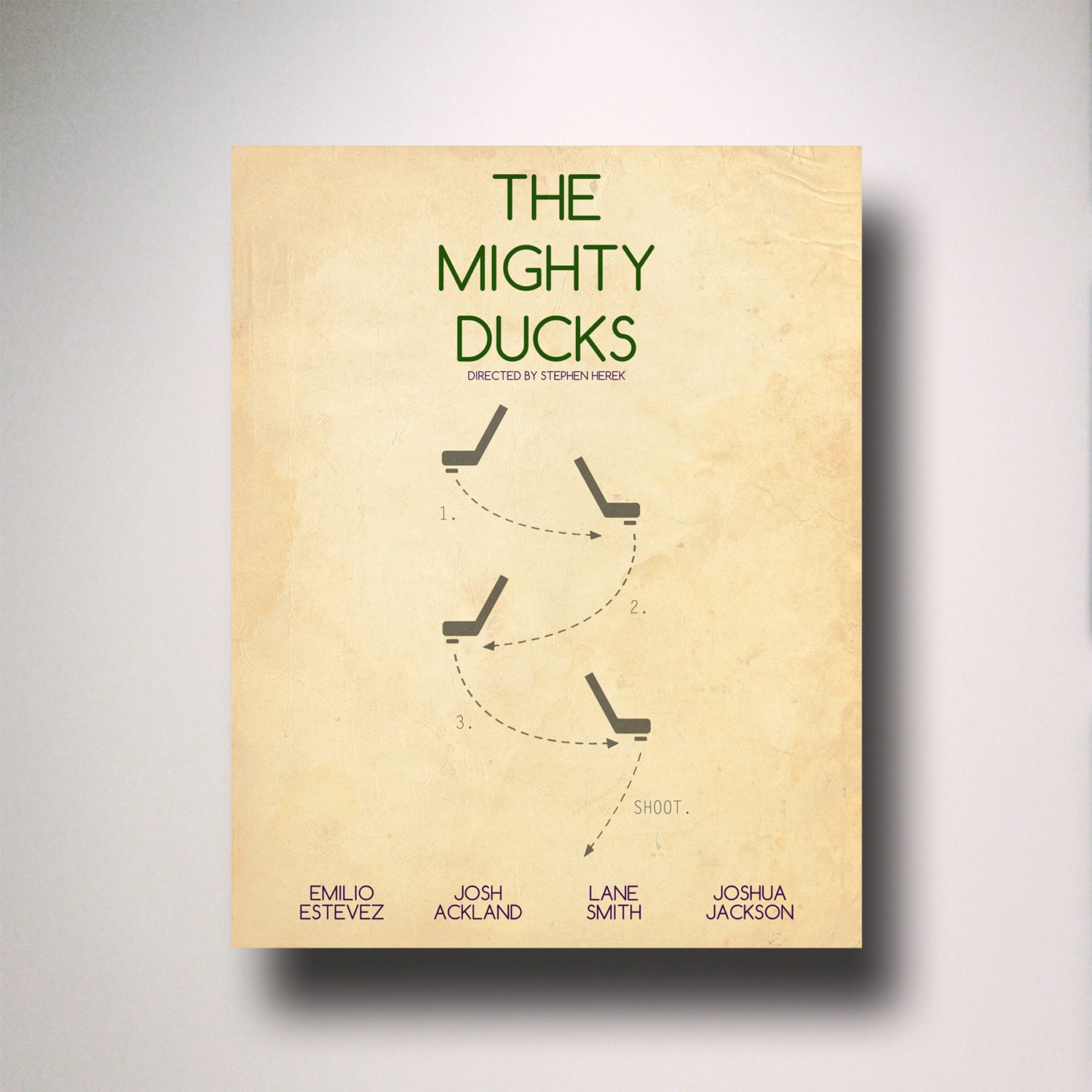 The Mighty Ducks Minimalist Movie Poster / Wall Art / Movie