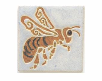 Honey Bee Arts and Crafts MUD Pi Decrative Handmade 4x4 Ceramic Tile