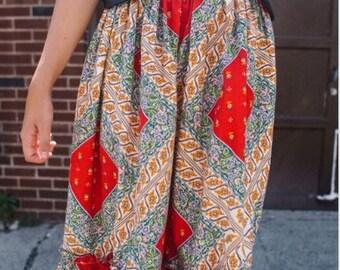 Vintage Handmade 70's Folk Bohemian Skirt