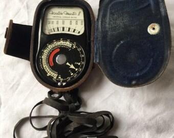 Sangamo Weston Master II 735/S141 Exposure light meter with case