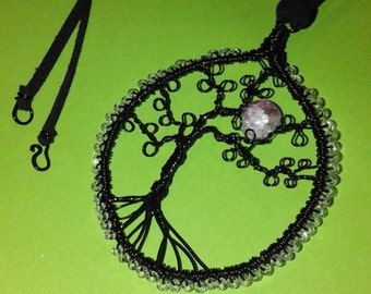 Wire tree pendant necklace