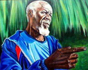 Island Art - Wall Art - Portrait Art - Scrap Iron - Red Bays - Andros Island, Bahamas - Original Acylic Painting