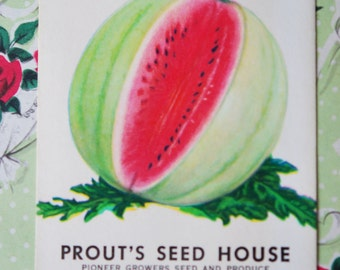 1930s Watermelon Seed Packet