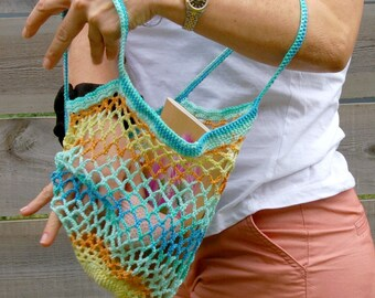 Sac filet multicolore tendance