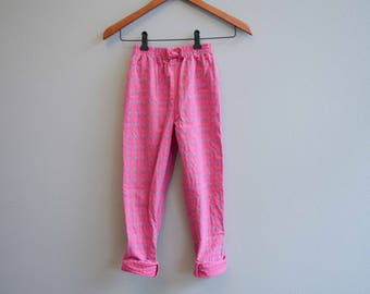 Vintage Pink Pant with blue flowers and polka dots by osk Kosh