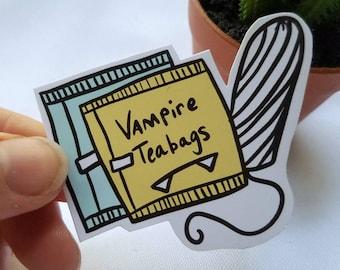 Vampire Teabags Sticker| Body Posi| Period| Girl Power