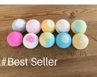 10 Bath Bombs Gift Set | Natural Bathbomb | Vegan Bathbombs | Organic Bathbombs | Bath Fizziebath