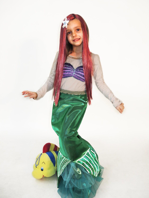 Ariel Kleid Fasching kleine Meerjungfrau Kleid Kleinkind