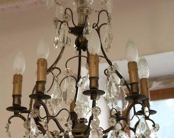 Crystal chandelier lighting pendant light ceiling light french french vintage chandelier crystal chandelier antique french chandelier lighting chandelier baroque crystal light ceiling light fixture aloadofball Images