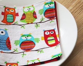 Lunchbox Napkins - Hoot Hoot Owls - two styles to choose from