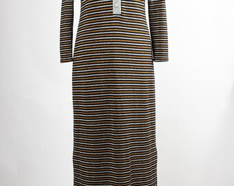 Vintage Dress // 70s// Black // Maxi // M
