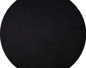 """JELLY ROLL  2.5"""" X 44"""" (6.5cm x 110cm) strips x 25 BLACK - Quilters Deluxe Solids"""